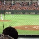 【東京ドーム観戦記】バックネット裏4列目で観戦してみた。