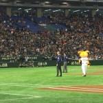 【東京ドーム観戦記】エキサイトシート一塁側で観戦。念願のボールをゲット!