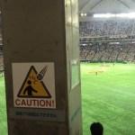 東京ドームの「ライト外野指定見切り席」がどれほど見えにくいかを確認してきた。
