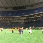 【東京ドーム観戦記】結束シートは公式球が1球もらえ、東京ドームのグラウンドに降りられる