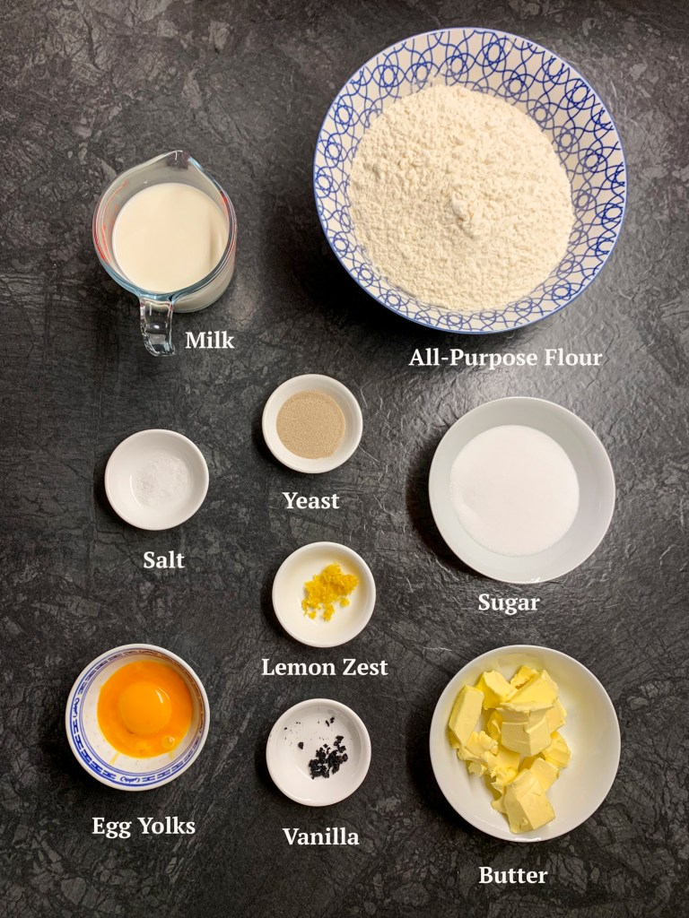 Ingredients for Braided Sweet Bread