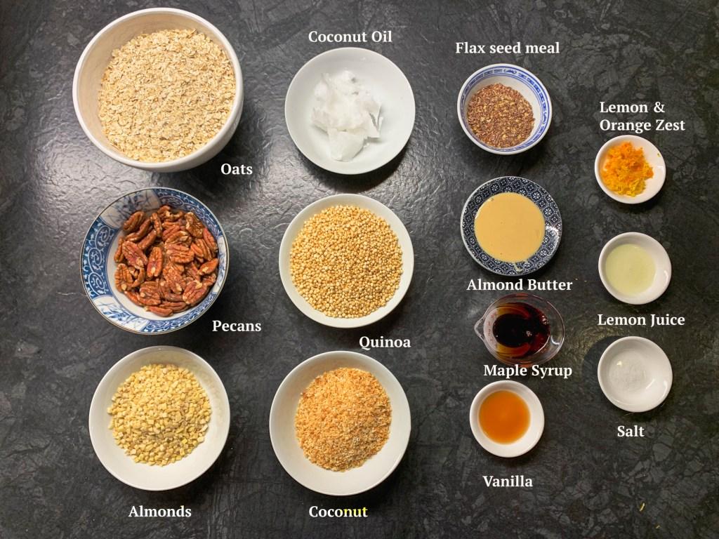 Ingredients for Spring Granola