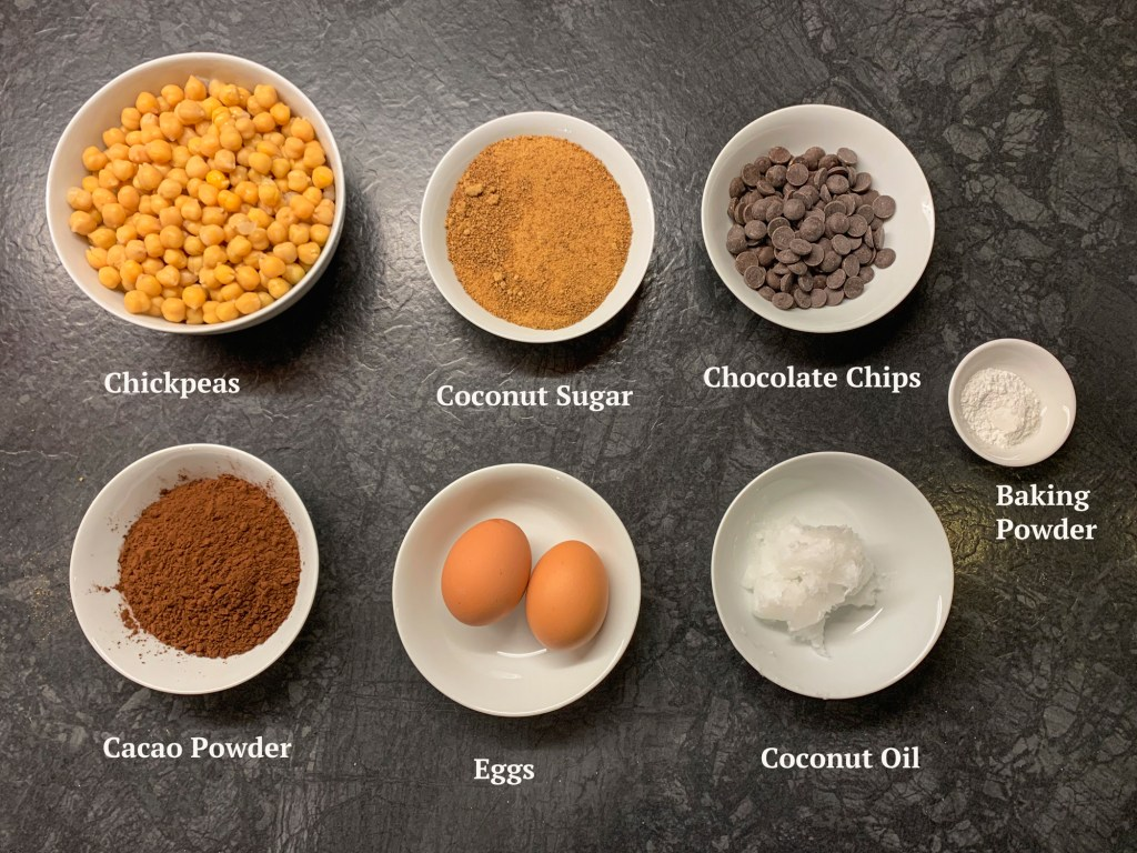 Ingredients for Chocolate Chickpea Brownies