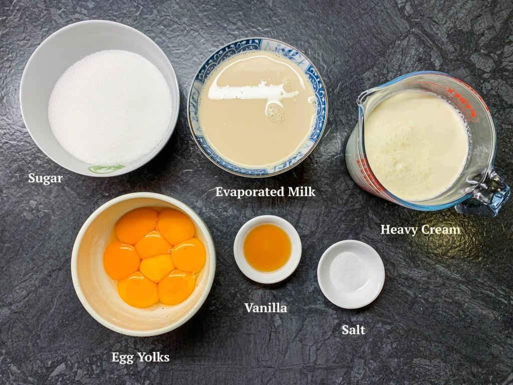 Ingredients for No-Churn Vanilla Ice Cream