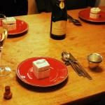 フレンチ プリフィクスコース(その1) – 車海老とフルーツトマトのジュレ