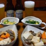 カツ丼弁当 夜は馬刺と家庭料理風 de 家呑み