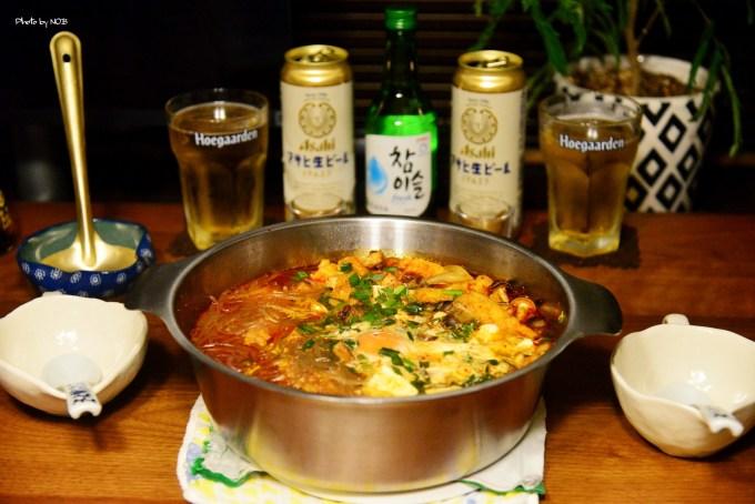 鮨デリバリの後は簡単豆腐チゲ de チャミスル