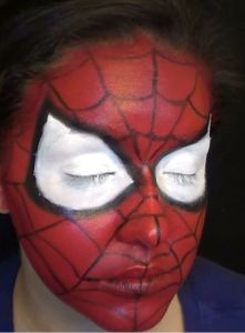 spiderman face paint tutorial