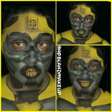 Bumblebee Body Paint Tutorial