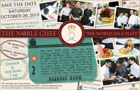 Noble Chef 2013 - Save the Date