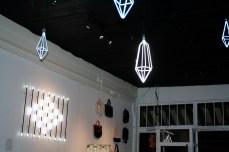 Constellation arrangement for Maiden Noir and Blk Pine Workshop pop-up shop at Love City Love.