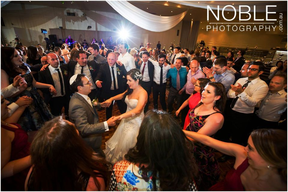 Dancing at Jewish Wedding Reception