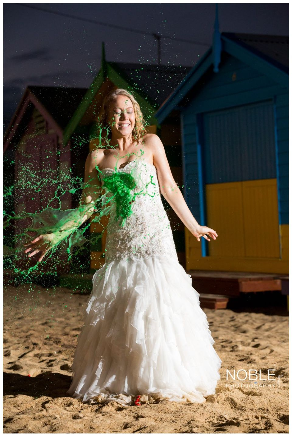 Paint on wedding dress