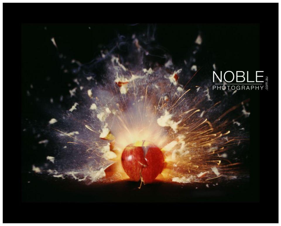 Scientific Photographer Exploding Apple