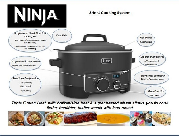 Ninja Kitchen Logo Cooking Systemx