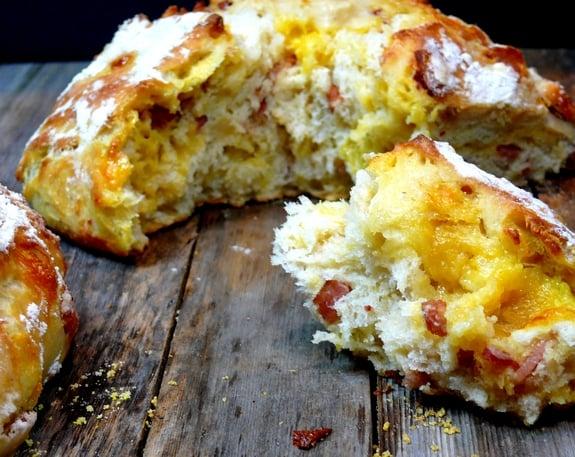 Easy Artisan Bacon Cheese Bread