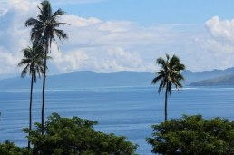 View over Sau Bay, Vanua Levu