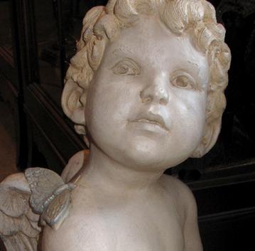 Cherub in garden statuary