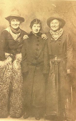 Women wearing chaps