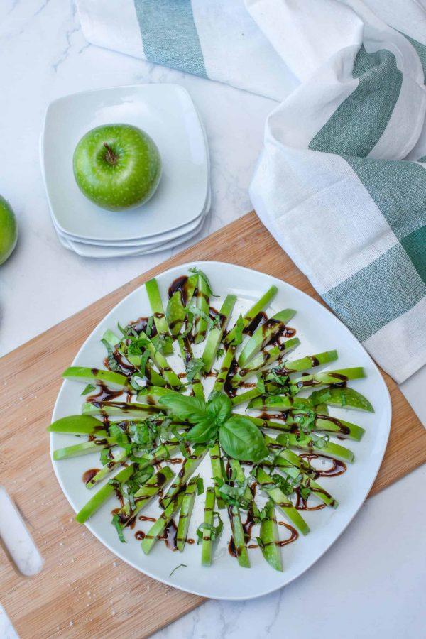 Bouchées de pommes vertes et Basilic