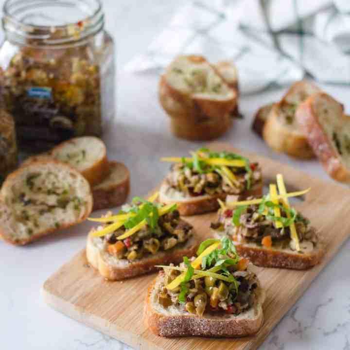 Croutons au Bruschetta d'Olive