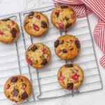 Muffins à la Rhubarbe et Chocolat