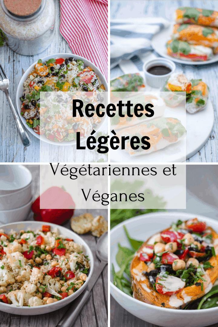 Recettes légères végétariennes et véganes