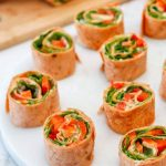 Hummus and Bell Pepper Pinwheel