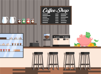 coffee open cost much does cafe opening