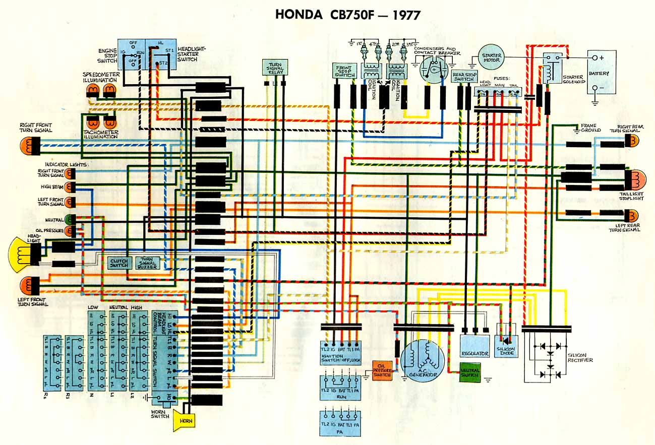 Honda Nighthawk Wiring Diagram 1979 Dohc Cbxxx Motorcycles