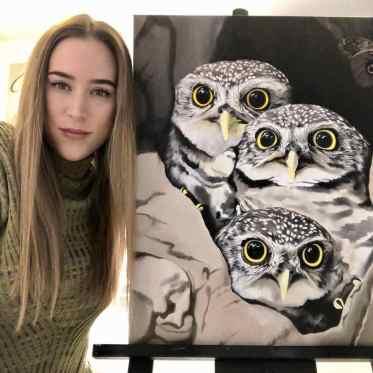 Nikita Coulombe-Owls in progress