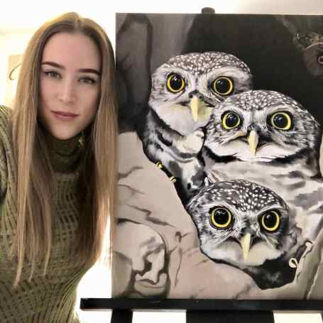 Nikita Coulombe-Owls in progress