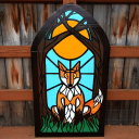 Stained Glass No 4 - Fox