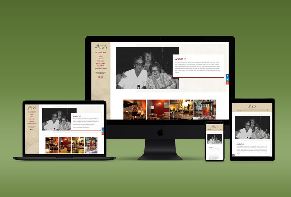 J9 Winebar website