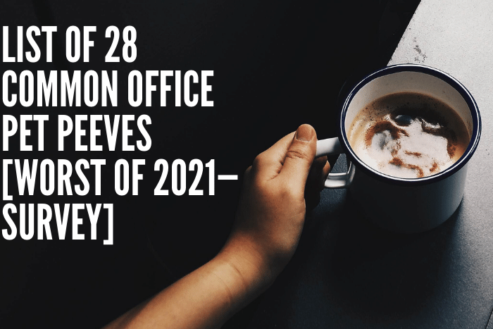 List of 28 Common Office Pet Peeves [Worst of 2021—Survey]
