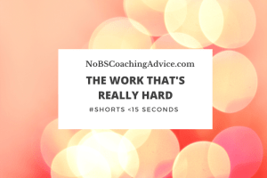 The Thing That's Really Hard, NoBSCoachingAdvice.com, #shorts