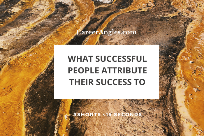 What successful people attribute their success to