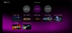 customise award menu