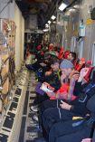 Mid-flight on the C-17