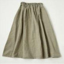 草木染2重ガーゼギャザースカート