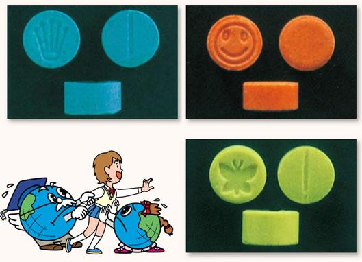 MDMAの形・錠剤
