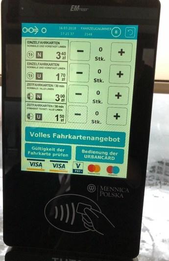 Neu in Wrocław: ÖPNV-Ticketing ohne Papier mit Mastercard und VISA