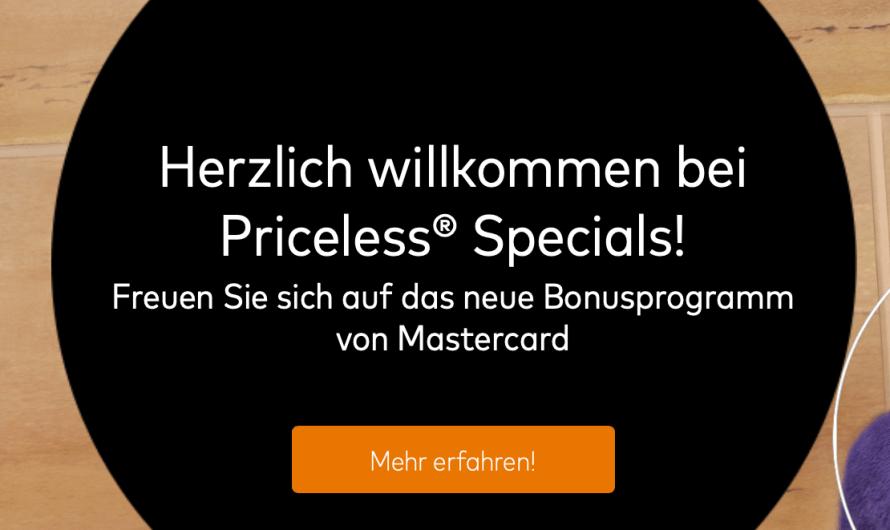 Ein Jahr Mastercard Priceless Specials in Deutschland