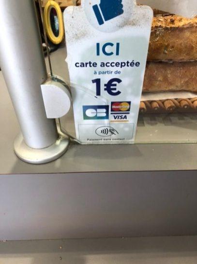 Ab 1€ mag man es in Frankreich (wahrscheinlich SumUp/iZettle-Terminal) (@ulrichkoester)
