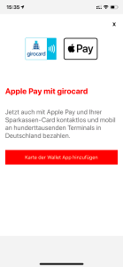 Startseite in Sparkasse-App mit Aktivierungsbutton