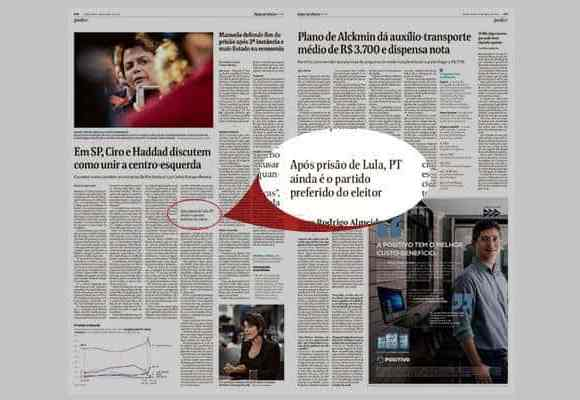 Folha esconde Lula PT partido preferido eleitor