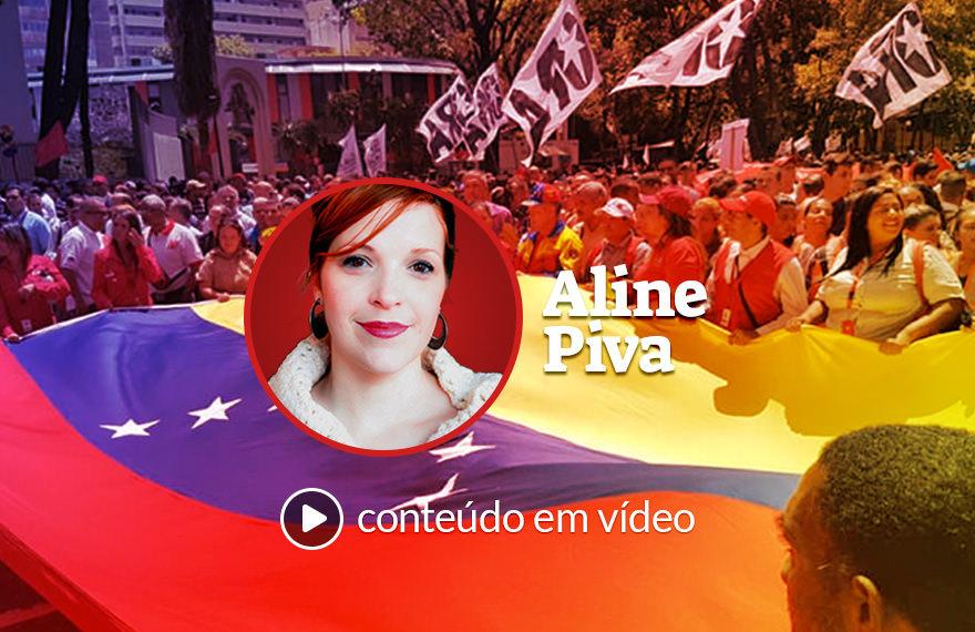 Venezuela: drones no ar, povo nas ruas