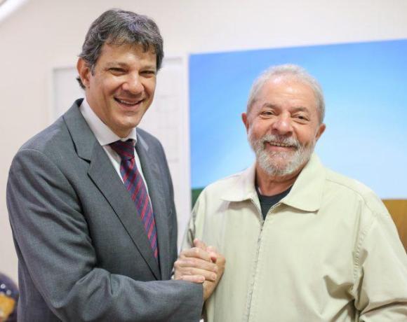 XP/Ipespe: Apoiado por Lula, Haddad salta para segundo lugar