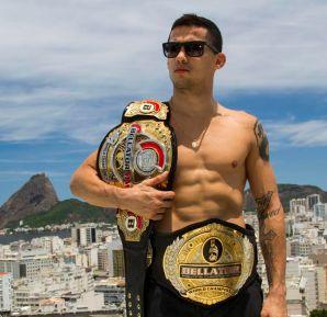 Dudu Dantas busca defender seu cinturão contra algoz  Joe Warren, no Bellator 166 (Foto: Divulgação)