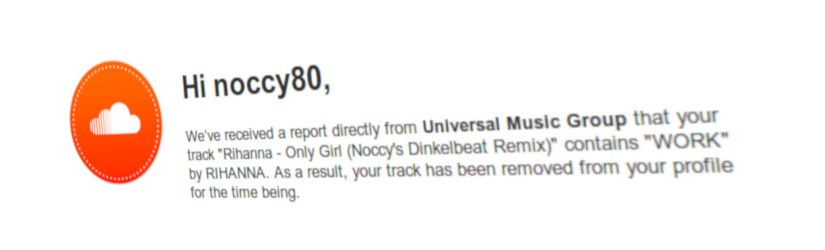 Universal Media Group just filled a takedown notice against my remix